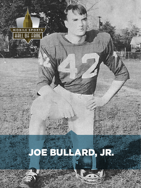 Joe Bullard was born and raised in Mobile, Alabama and attended University  Military School (now UMS-Wright Preparatory School) where he played five  sports.